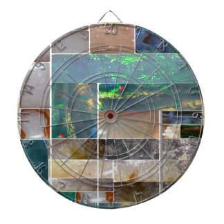 CRYSTAL Marble Artistic Collage : HealingSTONES Dart Board