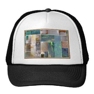 CRYSTAL Marble Artistic Collage : HealingSTONES Trucker Hat