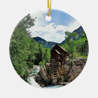 Crystal Mill Colorado Christmas Tree Ornament