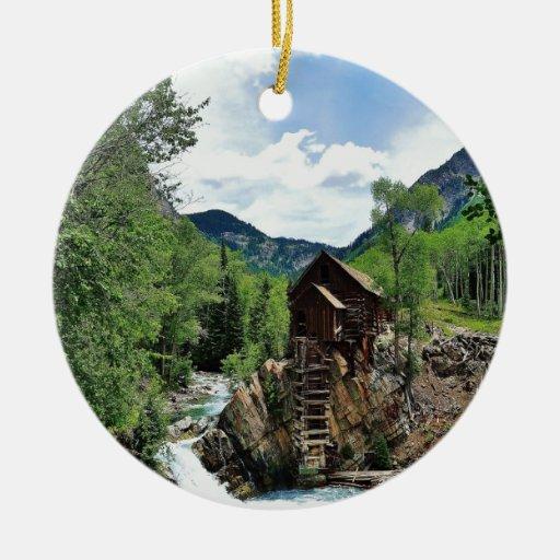 Crystal mill colorado christmas tree ornament zazzle