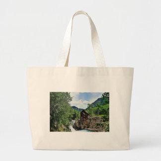 Crystal Mill Colorado Mountain Stream Canvas Bag