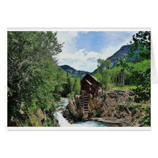 Crystal Mill Colorado Mountain Stream Card