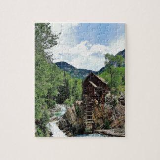 Crystal Mill Colorado Mountain Stream Jigsaw Puzzle