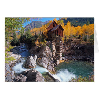 Crystal Mill, Marble, Colorado, the USA Card