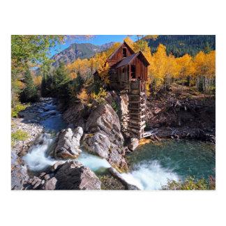 Crystal Mill, Marble, Colorado, the USA Postcard