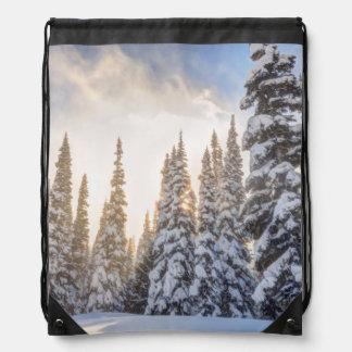 Crystal Mountain Ski Resort, near Mt. Rainier 1 Drawstring Bag