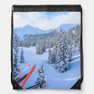 Crystal Mountain Ski Resort, near Mt. Rainier 2 Drawstring Backpack