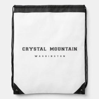 Crystal Mountain Washington Drawstring Backpack