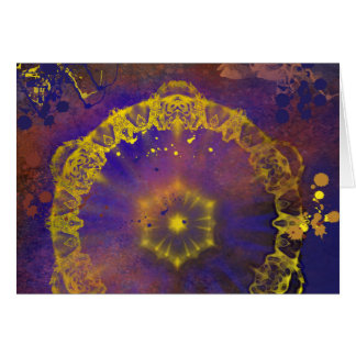 Crystal murky depths abstract horizontal card