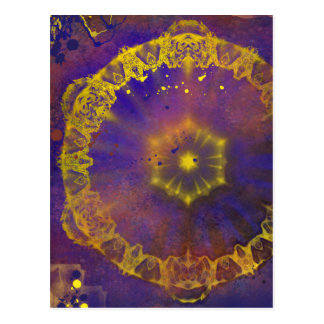 Crystal murky depths abstract vertical postcard