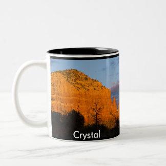 Crystal on Moonrise Glowing Red Rock Mug