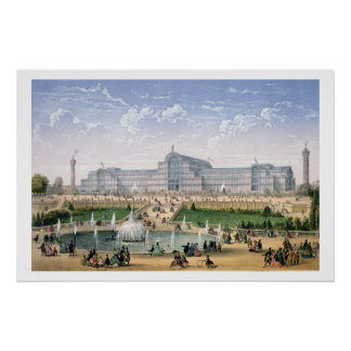 Crystal Palace, Sydenham, c.1862 (colour litho) Poster