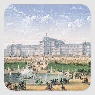 Crystal Palace, Sydenham, c.1862 (colour litho) Square Sticker