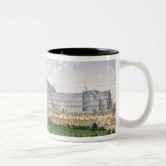 Crystal Palace, Sydenham, c.1862 (colour litho) Two-Tone Coffee Mug