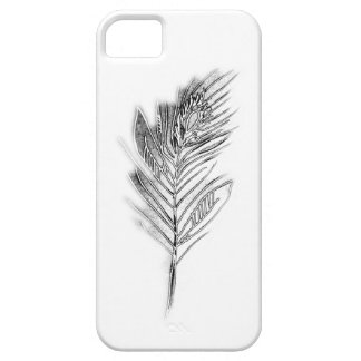 Crystal Peacock Feather iPhone 5 Cover