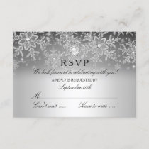 Crystal Pearl Snowflake Silver Winter RSVP