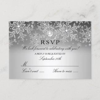 Crystal Pearl Snowflake Silver Winter RSVP