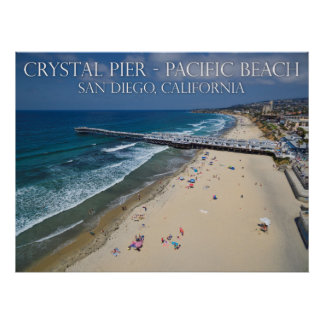 Crystal Pier, Pacific Beach Poster