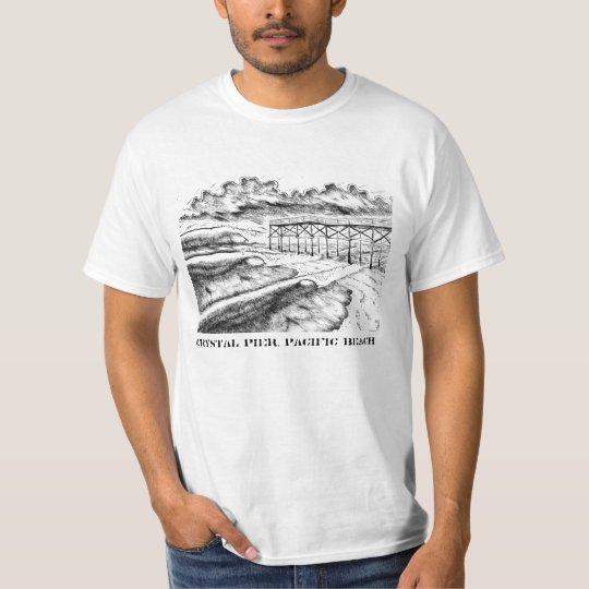 Crystal Pier, Pacific Beach T-Shirt