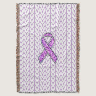 Crystal Pink Ribbon Awareness Knitting Throw