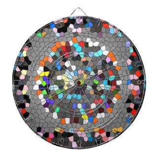 Crystal Pixels Dots Art Dartboard