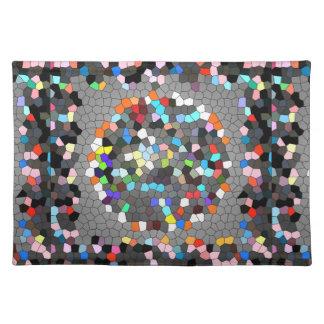 Crystal Pixels Dots Art Cloth Place Mat