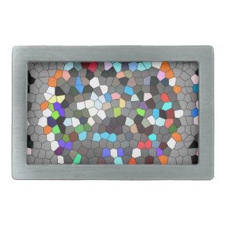 Crystal Pixels Dots Art Rectangular Belt Buckle