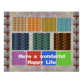 CRYSTAL Portfolio : Have a wonderful Happy Life Poster