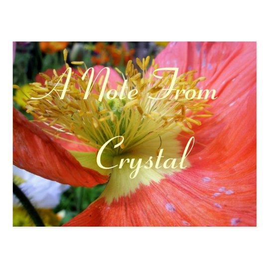 Crystal Postcard