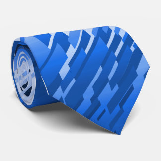 Crystal Prism Striped Blue Single-sided Neck Tie