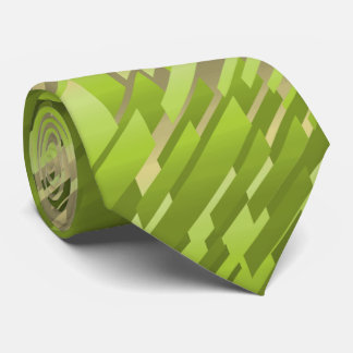Crystal Prism Striped Spectrum Green Two-Sided Neck Tie