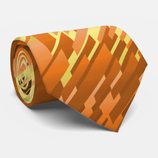 Crystal Prism Striped Spectrum Orange Two-Sided Tie