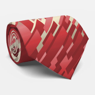 Crystal Prism Striped Spectrum Red Two-Sided Tie