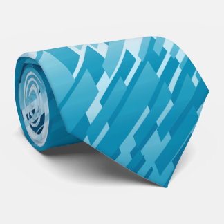 Crystal Prism Striped Spectrum Teal Two-Sided Neck Tie