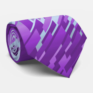 Crystal Prism Striped Spectrum Violet Two-Sided Neck Tie