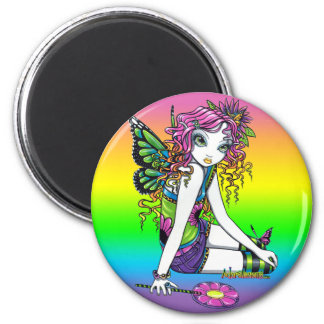 """""""Crystal"""" Rainbow Candy Fairy Art Magnet"""