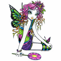 rainbow, candy, crystal, myka, jelina, fairy, faerie, fae, fairies, faery, pixie, butterfly, flower, fantasy, art, characters, Photo Sculpture with custom graphic design