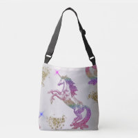 Crystal Rainbow Unicorn Crossbody Bag