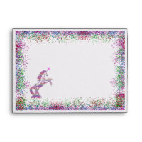 Crystal Rainbow Unicorn Envelope