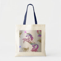 Crystal Rainbow Unicorn Tote Bag