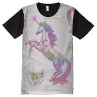 Crystal Rainbow Unicorns All-Over-Print Shirt
