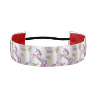 Crystal Rainbow Unicorns Athletic Headband