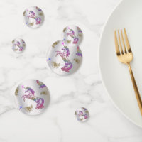 Crystal Rainbow Unicorns Confetti