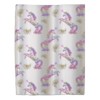 Crystal Rainbow Unicorns Duvet Cover