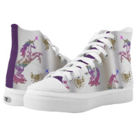 Crystal Rainbow Unicorns High-Top Sneakers