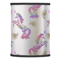 Crystal Rainbow Unicorns Lamp Shade