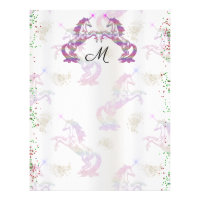 Crystal Rainbow Unicorns Letterhead