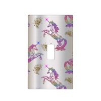 Crystal Rainbow Unicorns Light Switch Cover