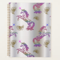 Crystal Rainbow Unicorns Planner
