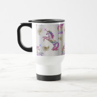 Crystal Rainbow Unicorns Travel Mug